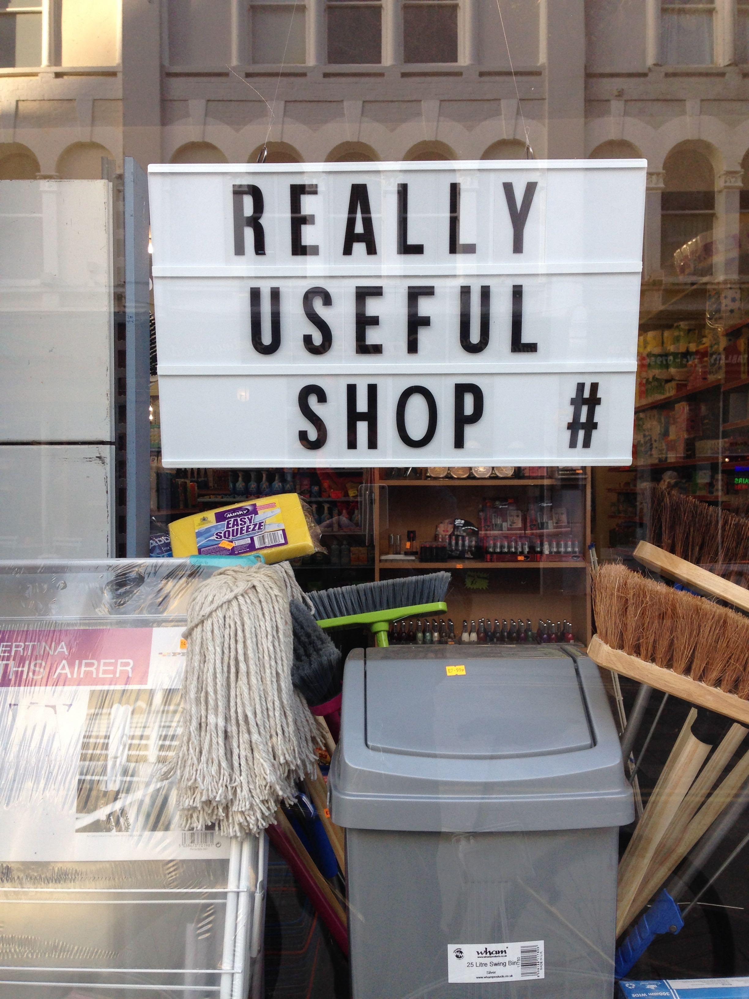 Really useful shop